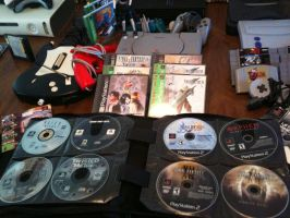 Video Game collection 2015 (PS1/PS2/Lose PS1/PS2) by elvenbladerogue