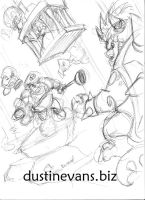Mario VS Bowser sketch by DustinEvans