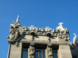 House with chimaeras 2 by PrisonerOfIce