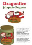 Dragonfire Jalapeno Peppers Label Complete Design by Cartoonstory75