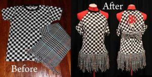 Checkered Shirts Into Dresses by LeeLooLa