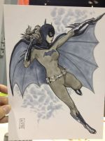 Batgirl sketch 1 WWC 2012 by Dave-Acosta