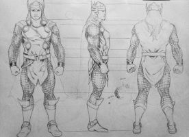 THOR - model sheet by cristianosuguitani