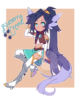 [fluffen adoptable] Blueberry cream by Steamed-Bun