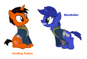 Healing Potion And BlueBullet by CreepingEnder
