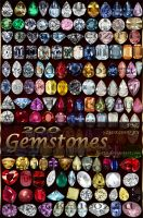 200 gemstones by Lyotta