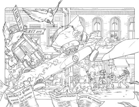 double pages spread from issue by Neil-Googe
