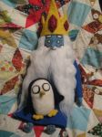 My Needle Felted Ice King and Gunter by CatsFeltLings