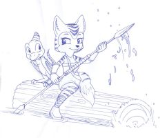 Rowing by NonhumanGTC