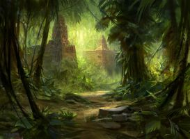 Forest (Tarkir) by AdamPaquette