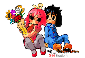Margerette flower and miguel by Tentakustar