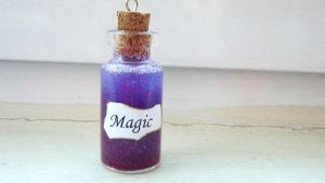 Magic Bottle Charm by PolymerClayMichelle