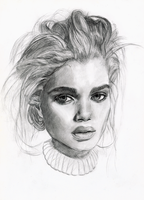 Old Portrait Drawing by Tomasz-Mro