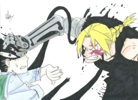 Ed vs Pride - FMA Brotherhood by PataPez