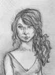 Taylor Swift Sketch Portrait by nicolaykoriagin