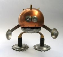 Copperhead robot sculpture by adoptabot