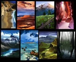 Landscape Studies 01 by erickenji