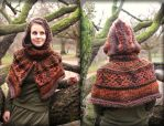 Autumn crochet forest fairy hoodie cape by MademoiselleOrtie