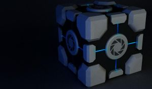 Aperture Science Weighted Storage Cube by alexdarkred