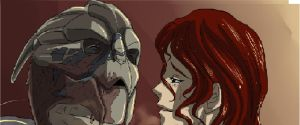 Garrus and Leela teaser by Mizutanitony