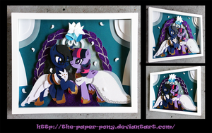 Commission: Oc and Ali-Twilight Wedding Shadowbox by The-Paper-Pony