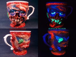 Zombie Ed Coffee Mug by Undead Ed Glows in the Dar by Undead-Art