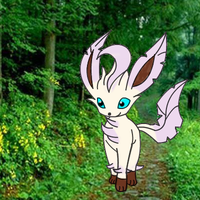 leafy the leafeon by DrewTheRedPoochyena