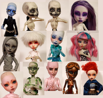Monster High Repaint WIPs by Law-of-Murph