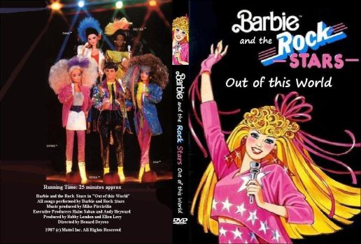 Barbie and the Rockers/Rock Stars - DVD cover by omcgeachie