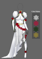(closed) Auction Adopt - Outfit - Rose Goddess by CherrysDesigns
