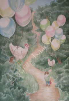 Helping Chickens Fly by Auddi