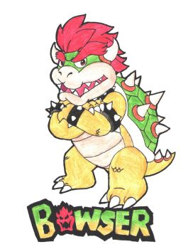 Color Pencil Art - Bowser by Rotommowtom