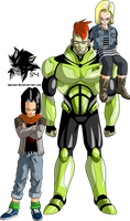 Androids 16,17 and 18 MLL Redesign (Android Saga) by MAD-54