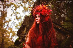 Autumn Goddess II. by LucreciaMortishia