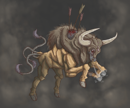 The rampant Meadow King: Tauros by UVERwolf