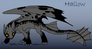 HTTYD Night Fury OC- Hallow by KuroHetalia