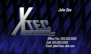 Xtec Buisness card and Logo by EvlD
