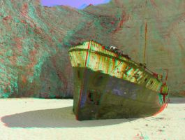Zakynthos 17 3D Anaglyph by yellowishhaze