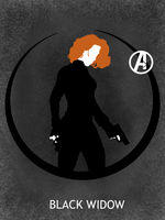 Black Widow Poster by Mr-Saxon