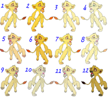 Male Cubs Adoptables 6 - CLOSED - by Soufroma