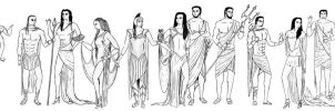 The Entire Greek Pantheon by ApolloNui