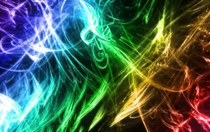 Abstract lines RAINBOW COLORS ON DARK by RAD-Master-PL