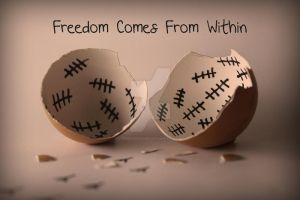 Freedom Comes From Within by RamezDesigner