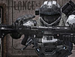 Halo Reach: Lance by purpledragon104