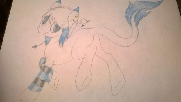 blue mlp adopt by goldenorb92