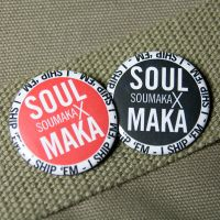 Ship Button - Soul x Maka by superorangestudio