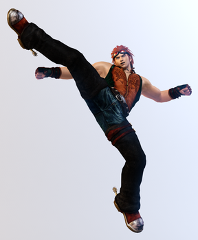 Hwoarang 3DS Render by x2gon