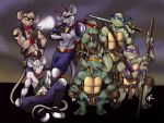 Biker Mice and Ninja Turtles by 0-Pau-0