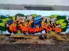 CHEM Syracuse NY Graffiti by jwalts37