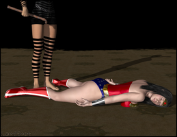 Wonder Woman Knocked Out 02 by LordSnot